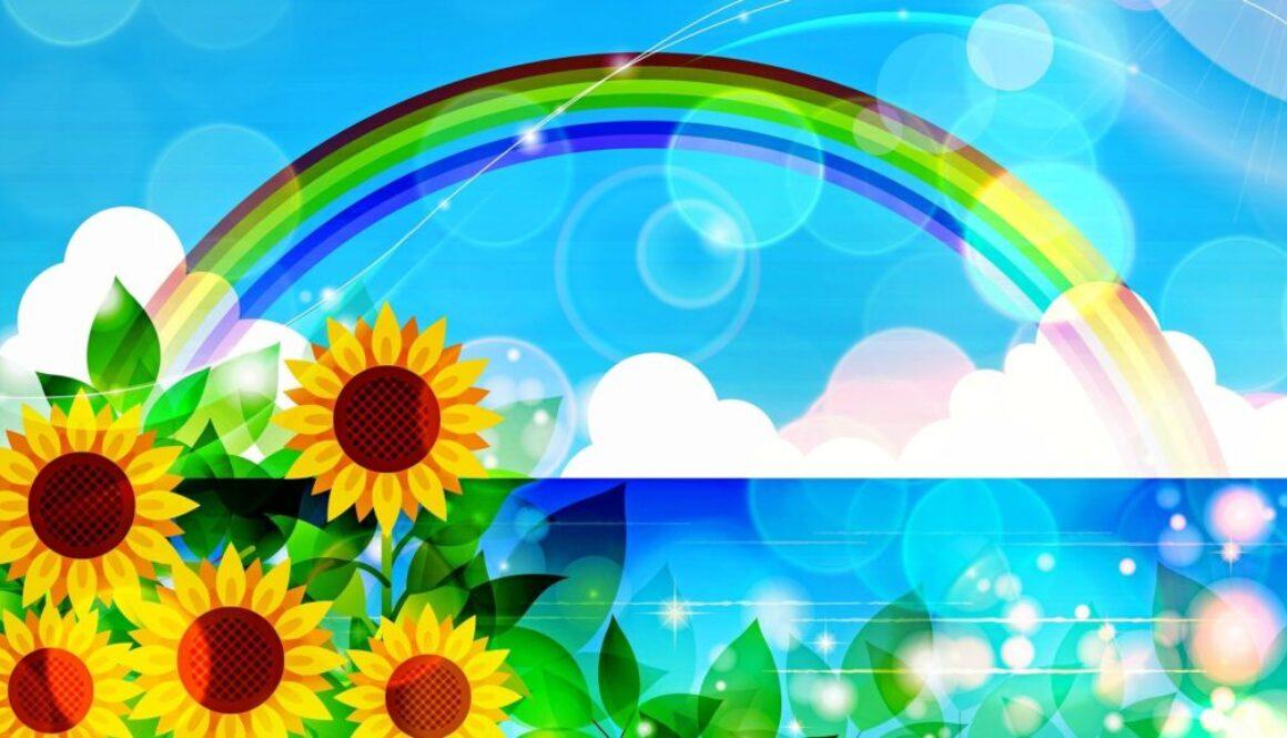 sunflower-and-rainbow-3740939_1920
